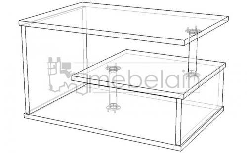 размеры журнального столика Мебелайн-2