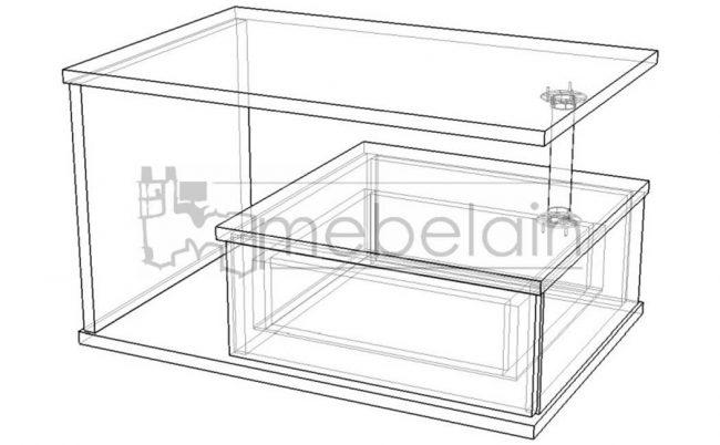 размеры журнального столика Мебелайн-3