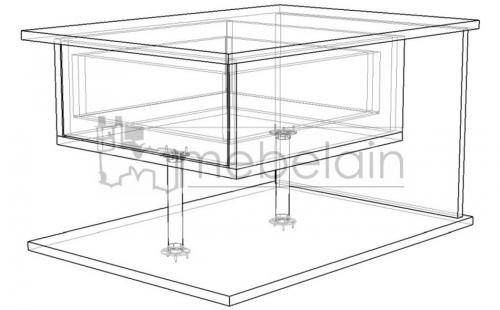 размеры журнального столика Мебелайн-4