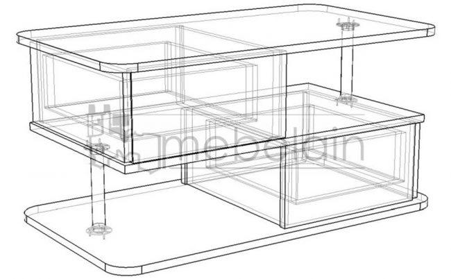 размеры журнального столика Мебелайн-5