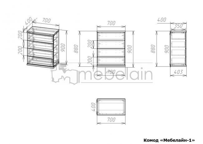 Комод Мебелайн 1 размеры