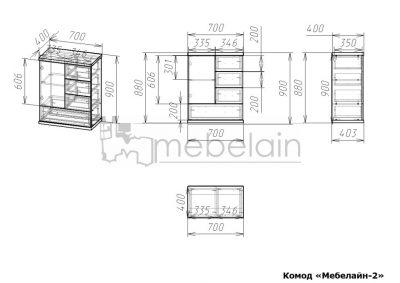 размеры Комод Мебелайн 2