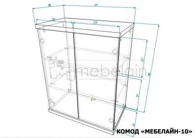 Комод Мебелайн 10 размеры