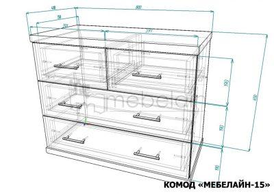Комод Мебелайн 15 размеры