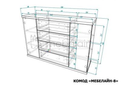 Комод мебелайн 8 размеры