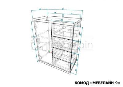 размеры Комод Мебелайн