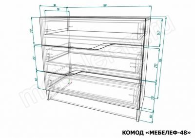 Комод Мебелеф 48 размеры