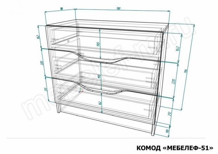 Комод Мебелеф 51 размеры
