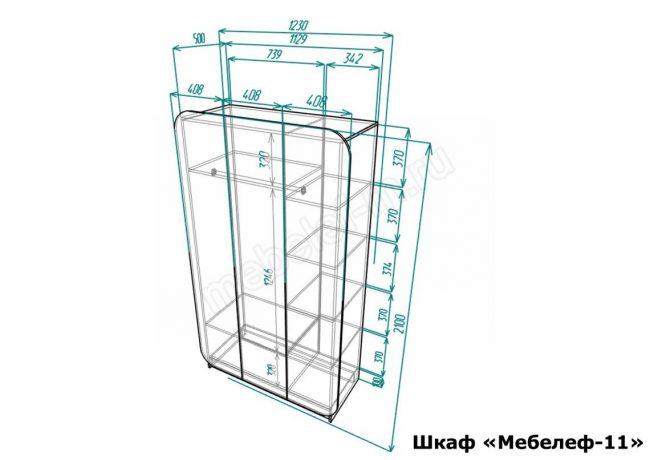 шкаф Мебелеф 11 размеры