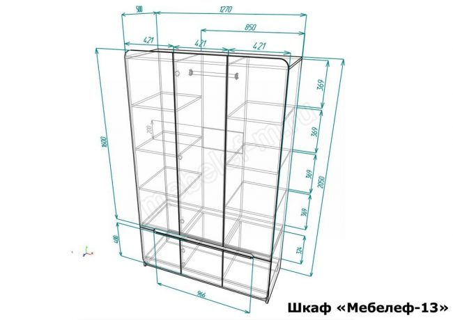 шкаф Мебелеф 13 размеры