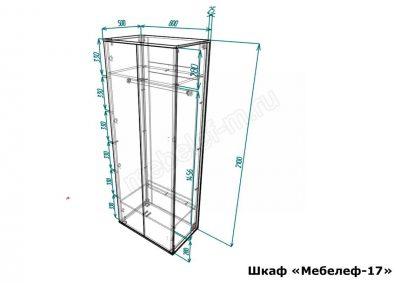 шкаф Мебелеф 17 размеры