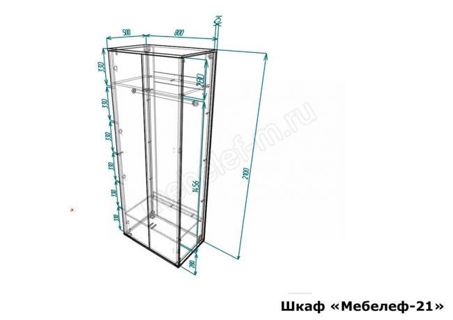 шкаф Мебелеф 21 размеры