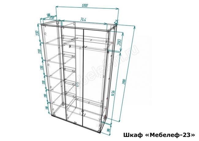 шкаф Мебелеф 23 размеры