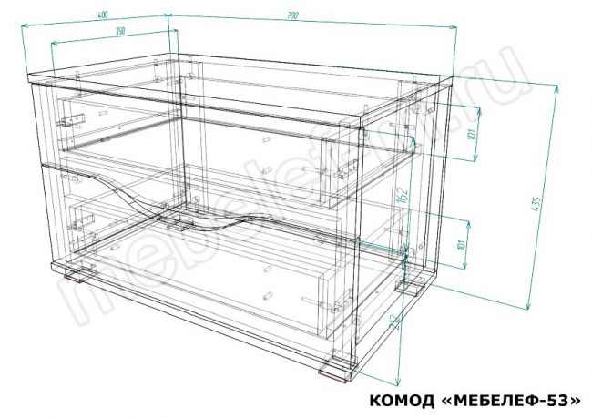 Комод Мебелеф 53 размеры