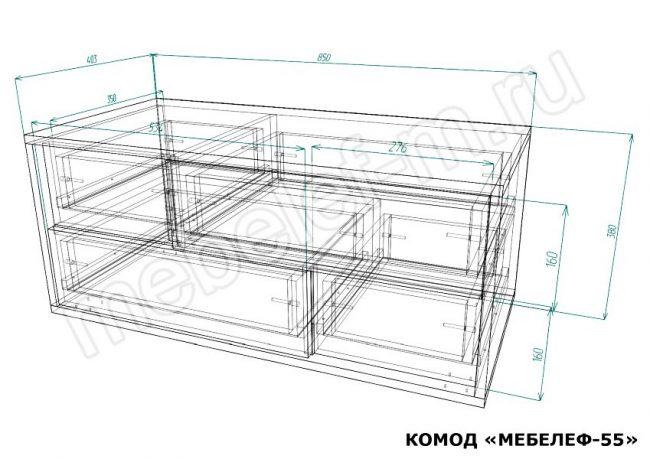 Комод Мебелеф 55 размеры