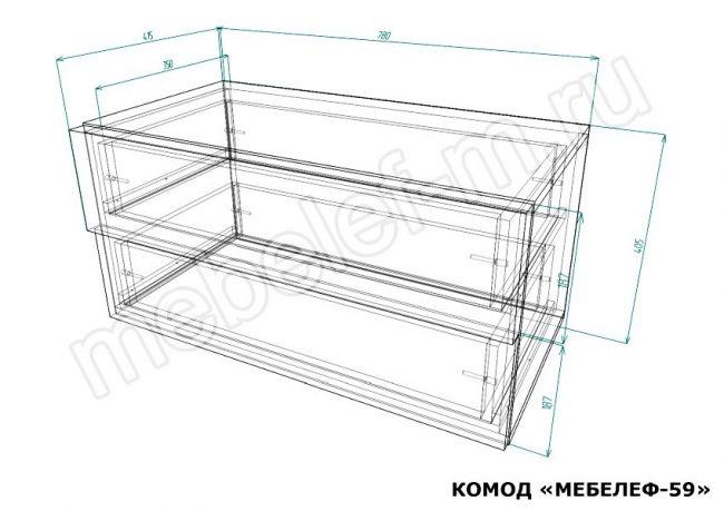 Комод Мебелеф 59 размеры