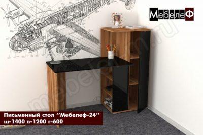 письменный стол Мебелеф 24 дуб кельтик   черный глянец о