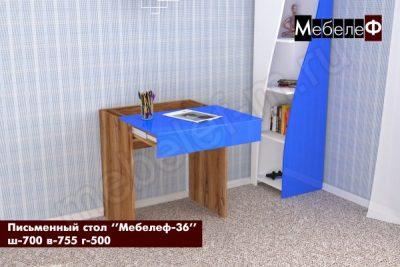 письменный стол Мебелеф 36 дуб кельтик   синий глянец о