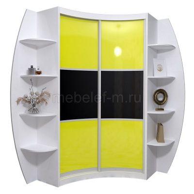 радиусный шкаф купе Мебелеф 21
