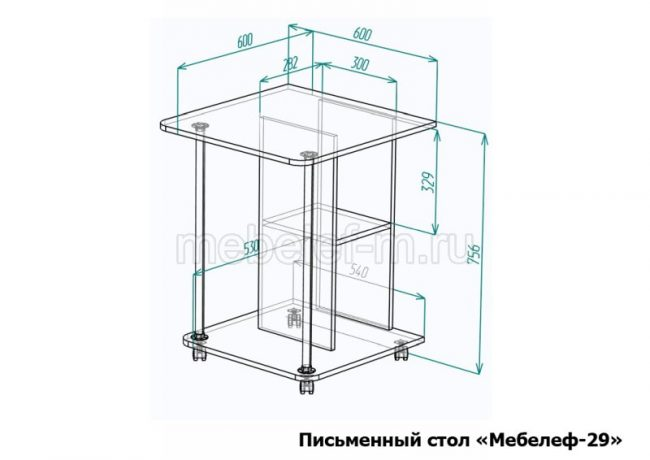 Письменный стол Мебелеф 29 размеры