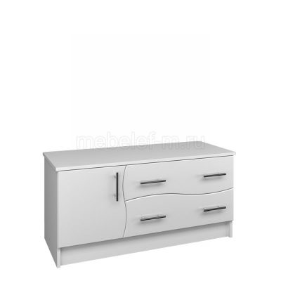 Белый комод Мебелеф 17