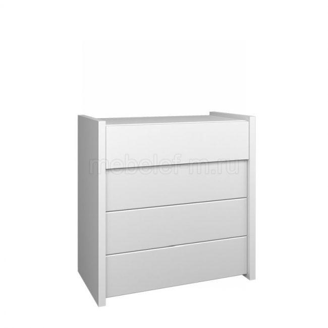 Белый комод Мебелеф 64