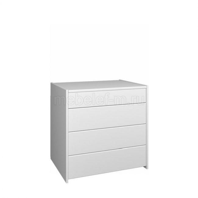 Белый комод Мебелеф 68