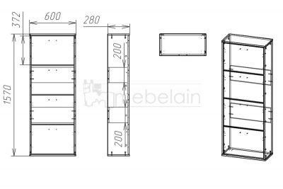 Размеры обувницы Мебелайн 3