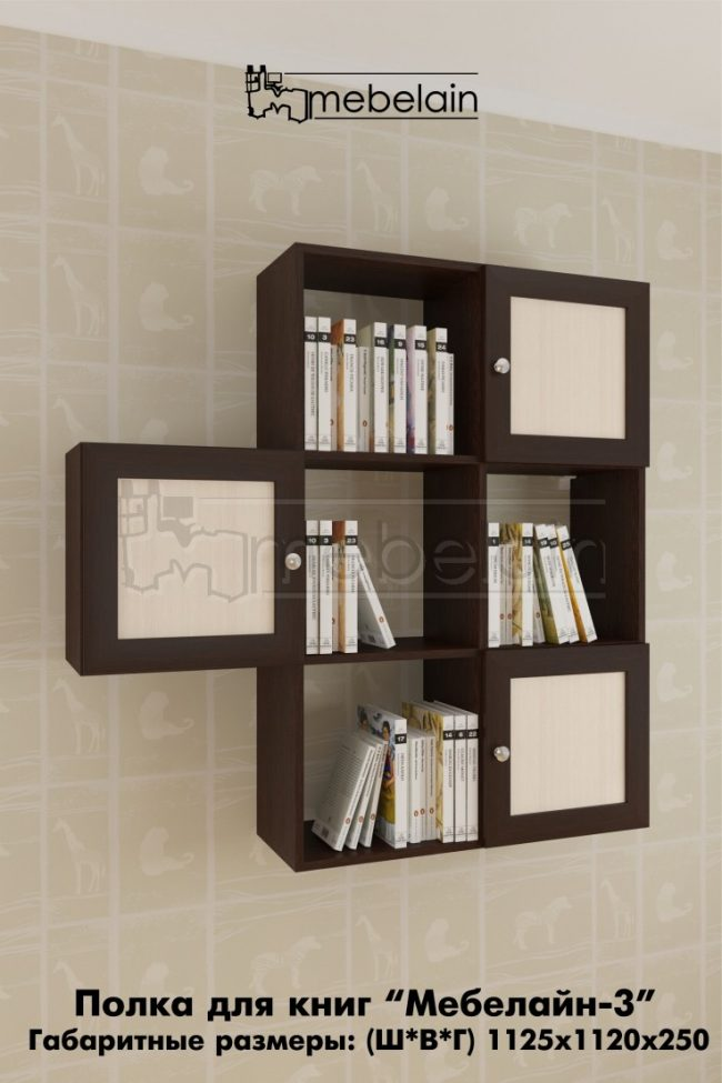 Полка для книг Мебелайн 3